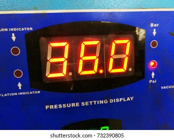 360 digits on a digital display on a air pressure machine