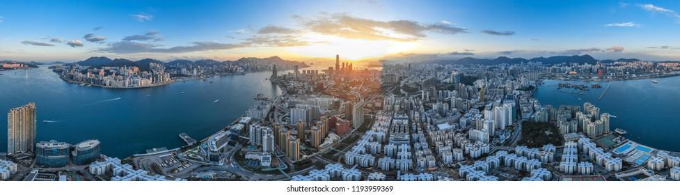 360 Panorama Hong Kong Cityscape