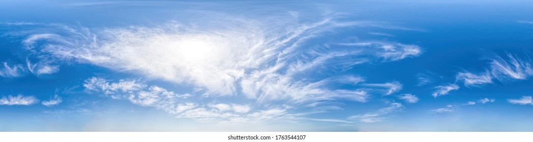 360 panorama sky with clouds in form of dragon for easy use in 3D graphics and panorama for composits in aerial and ground spherical panoramas as a sky dome.
