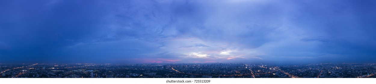 360 Seamless Twilight/Night Sky Panorama in Spherical(Equirectangular) format