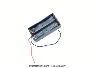 3.7v battery holder case cover isolated white background