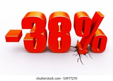 38 percent discount