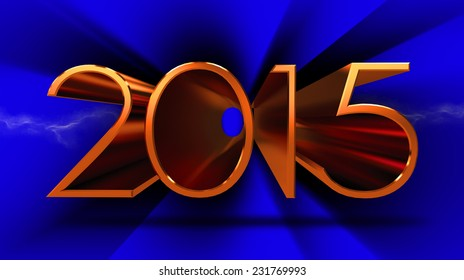 3d 2015 text background stock image