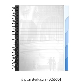 3D, a4, spiral writing pad, writing pad, paper, write, book