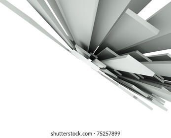 3d abstract architectural background