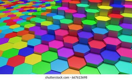 3D abstract background  made of cellular cylinders