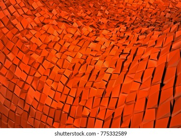 3D abstract background tiles