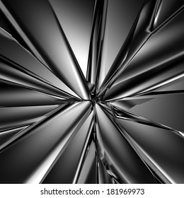 3d abstract black futuristic crystal background, macro glass texture