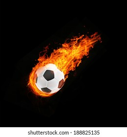 3d abstract flamed football fireball background