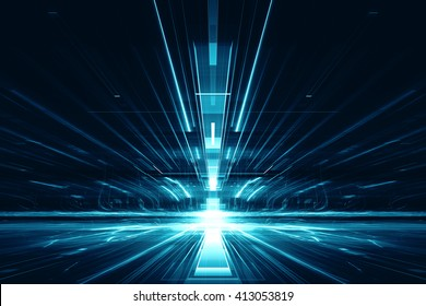 3d abstract lens flare space or time travel concept background