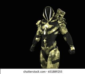 3D Advanced super soldier