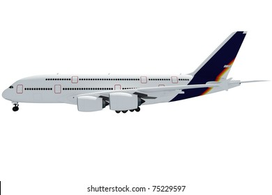 3d airplane on white background
