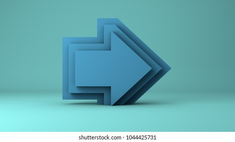 3D Arrow Growth Up Concept. Infographic Template for business background.