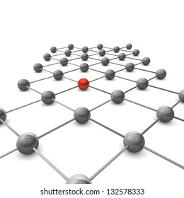 3D ball grid shows the structure of a molecular structure of two atoms