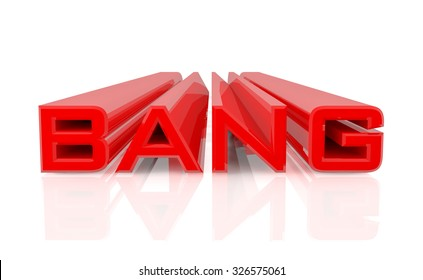 3D BANG word on white background 3d rendering