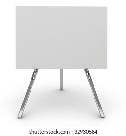 3d billboard sign isolated on white.