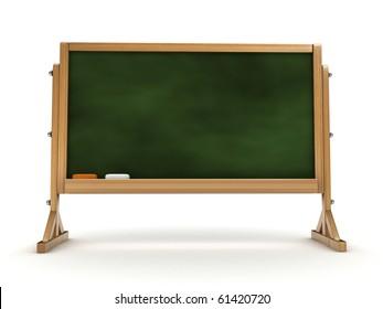 3d blackboard isolated
