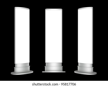 3D blank Light box wrap advertising on a white background. Isolated die cut