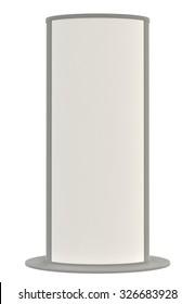 3D blank outdoor Advertising Citylight Lightbox Advertising. Illustration Isolated On White Background.