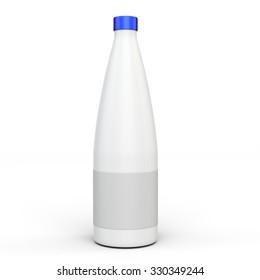 3d blank product bottle mockup on white background
