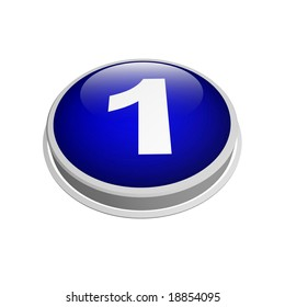 3d blue number one button