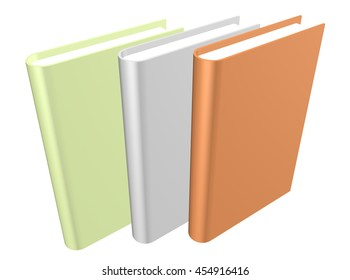 """3d book with a blank cover. """"3d illustration"""""""