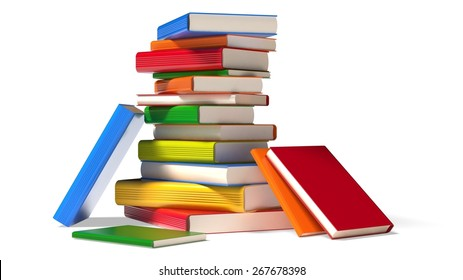 3D. Book, Education, Library.