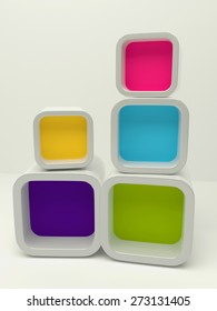 3d box background colorful