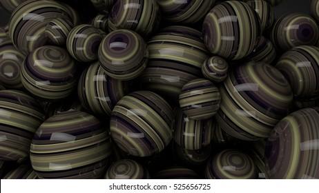 3d brown speres background 3d render