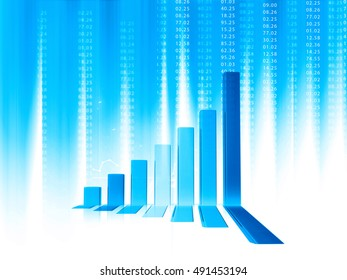 3d Business graphs and charts. financial background