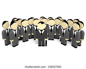 3D business people. Team work. 3D illustration.