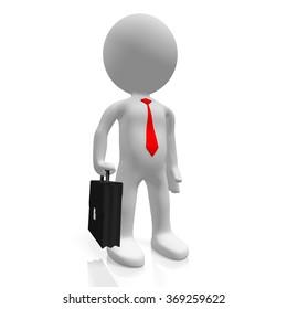 3D businessman concept.