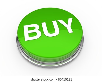 3d button buy green press push click