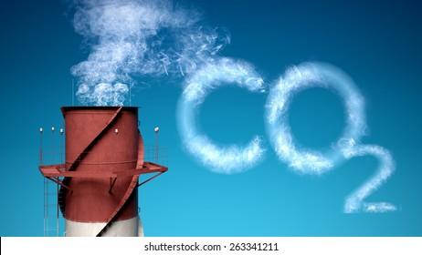 3D. Carbon Dioxide, Carbon, Fumes.
