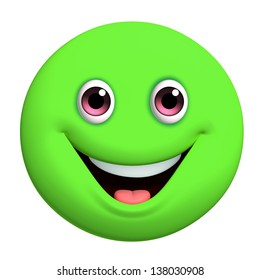 3d cartoon cute green ball