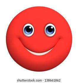 3d cartoon cute red ball