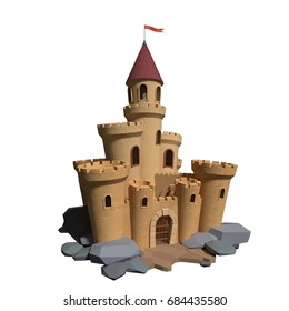 3d Cartoon medieval castle