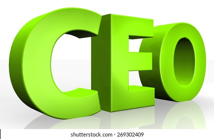 3D ceo text on white background
