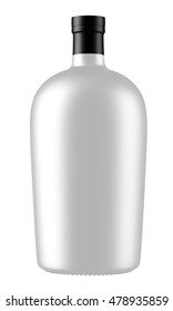 3d Ceramic bottle isolated on white background. Mock up for your design.