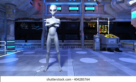 3D CG rendering of an alien