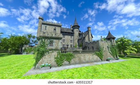 3D CG rendering of the castle