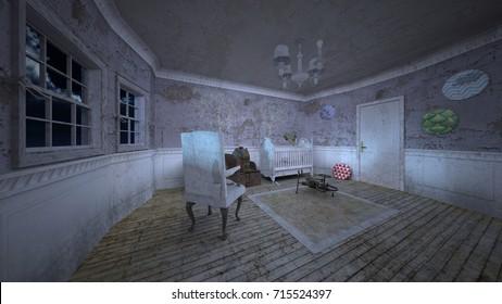3D CG rendering of the children's room