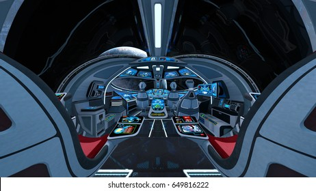 3D CG rendering of the cockpit