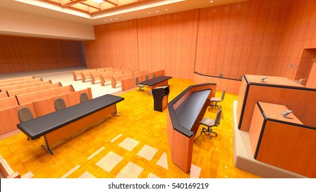 3D CG rendering of county court