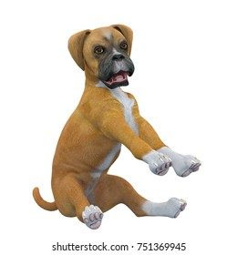 3D CG rendering of a dog