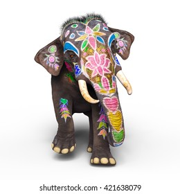 3D CG rendering of a elephant