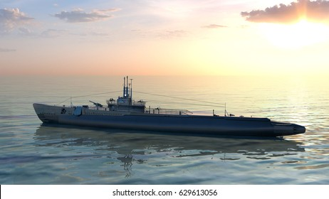 3D CG rendering of the escort ship