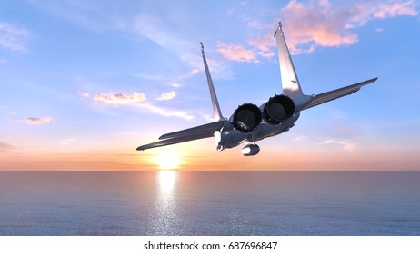 3D CG rendering of a fighter