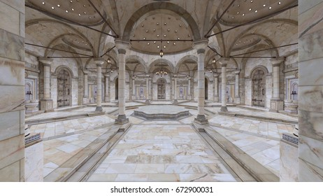 3D CG rendering of the grand hall