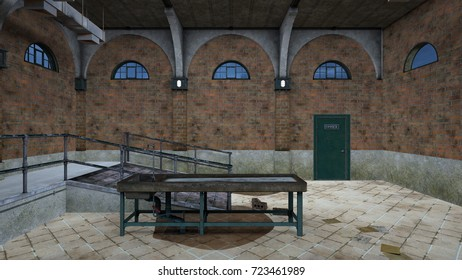 3D CG rendering of the morgue